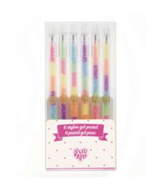 DJECO Lovely Paper - 6 Neon Gel pennen