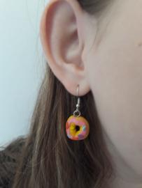 Oorbellen - I love donuts earrings