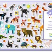 DJECO stickers - Mothers and Babies 100 puffy stickers 3 jr. +