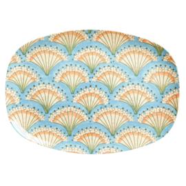 RICE melamine groot bord - Flower Fan print