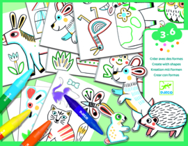 DJECO Create with shapes - Animals  3 jr. +