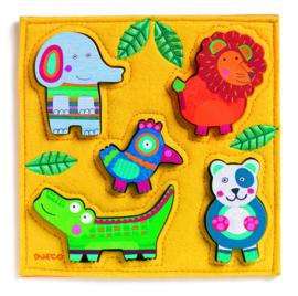 DJECO  puzzel Junga Happy Jungle 12 mnd. +