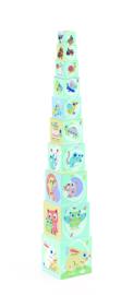 DJECO 10 stapelblokken Baby Bloki 12 mnd. +
