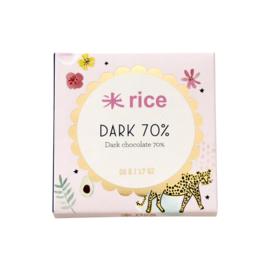 RICE Dark Chocolate 70% - 50 gram