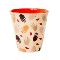 RICE beker - Hands and Kisses print (AW21 collectie)