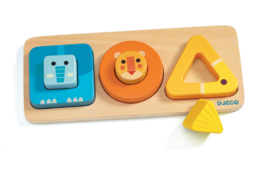 DJECO houten puzzel VoluBasic  12 mnd. +