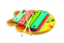 DJECO Houten xylofoon in de vorm van een vis 18 mnd. +