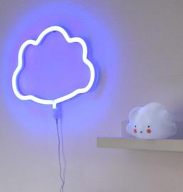Neon stijl lamp: blauwe wolk wandlamp - A Little Lovely Company