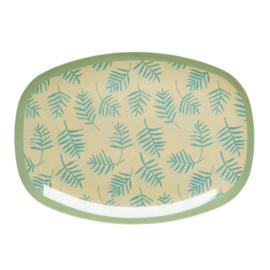 RICE melamine groot bord - palm leaves print