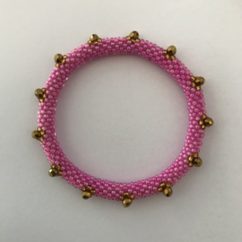 Loffs armband - roze/ goud