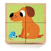DJECO  4 houten blokken puzzel - Wouaf & co 2 jr. +