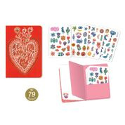 DJECO Lovely Paper - Notebook Aurélia met 79 stickers