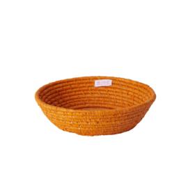 RICE ronde raffia (brood)mand - XS - oranje