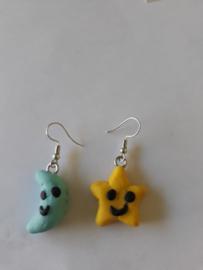 Oorbellen - Star & Moon earrings