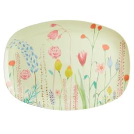 RICE melamine groot bord - Summer Flowers print  (nieuwe collectie 'Choose Happy' 2021)