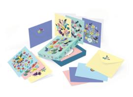 DJECO Lovely Paper - doosje met 10 kaarten & enveloppen - Jane