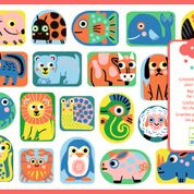 DJECO grote stickers - all shapes and sizes 18 mnd. +