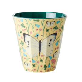 RICE beker - Sweet Butterfly print - creme (HW21 collectie)