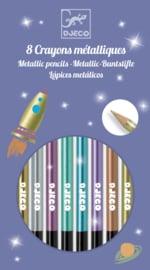 DJECO doos met 8 metallic potloden 6 jr. +