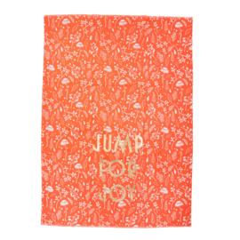 RICE theedoek - Fall print 'Jump for Joy'