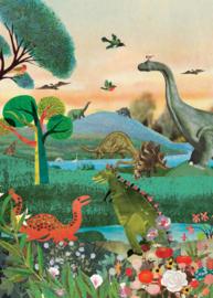 Grootzus poster Dinoland - 50 x 70 cm