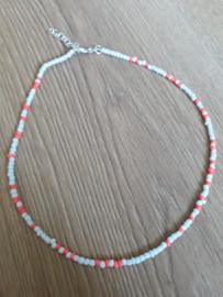 Ketting - random bead - pink