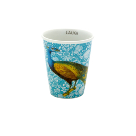 RICE beker porselein - Fern and Flower with Peacock print