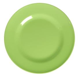 RICE melamine rond dinerbord 25cm - neon groen