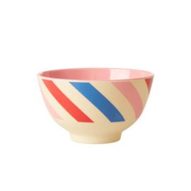 RICE melamine schaaltje - Candy Stripes print  (nieuwe collectie 'Choose Happy' 2021)