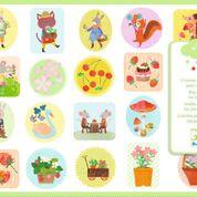 DJECO grote stickers - the garden 18 mnd. +