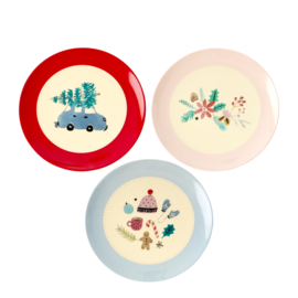 RICE melamine dessertbord 16cm - Christmas Tree print (nieuwe collectie High Winter 2019)