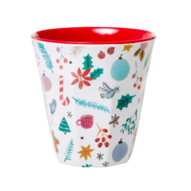 RICE beker - All Over Xmas print (AW21 kerst collectie)