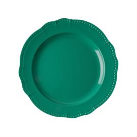 RICE melamine rond dinerbord 25cm - donker groen