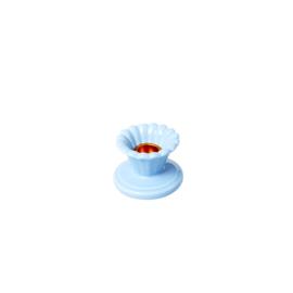 RICE kandelaar keramiek - blauw