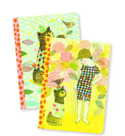 Djeco Lovely Paper - 2 small notebooks Elodie