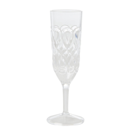 RICE champagne glas - doorzichtig acryl