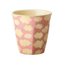 RICE beker - Cloud print roze