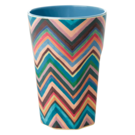RICE beker tall - Zigzag print (nieuwe collectie AW2020)