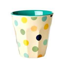 RICE beker - Green Dots print  (nieuwe collectie 'Choose Happy' 2021)
