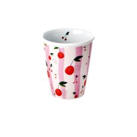 RICE beker porselein - Cherry print