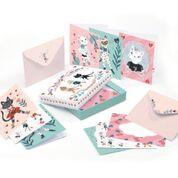 DJECO Lovely Paper - doosje met 10 kaarten & enveloppen - Lucille