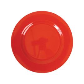 RICE melamine rond lunchbord 20cm - Rood
