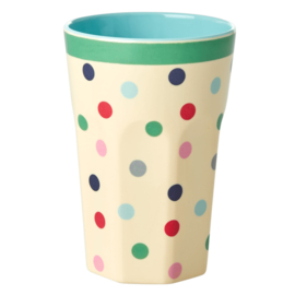 RICE beker tall - Dots print