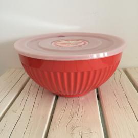 RICE melamine schaal met plastic deksel oranje - maat L