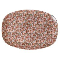 RICE melamine groot bord - Fall Floral  print (AW21 collectie)
