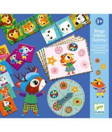 DJECO set Bingo Memory Domino  -  3 jr.  +