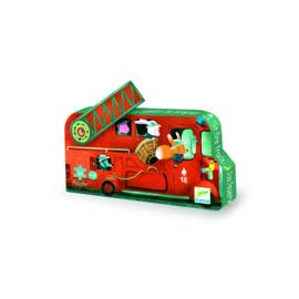 DJECO Puzzel brandweerwagen (16 stukjes) 3 jr. +