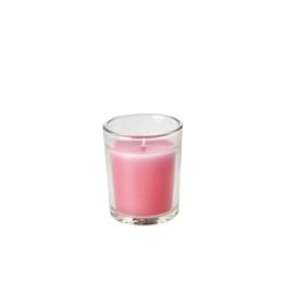 RICE geurkaarsje in giftbox - small - roze