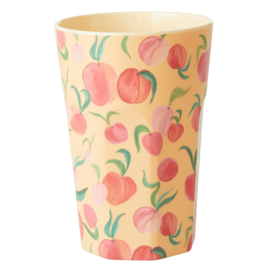 RICE beker tall - Peach print (nieuwe collectie 'Choose Happy' 2021)