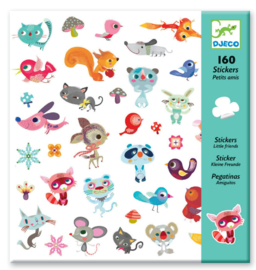 DJECO 160 stickers - thema kleine vriendjes 4 jr. +